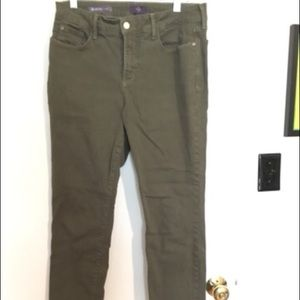 Olive green ankle pants